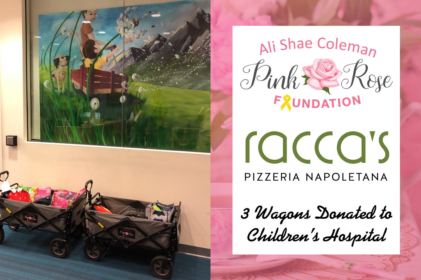 Pink Rose Foundation Wagon Donation